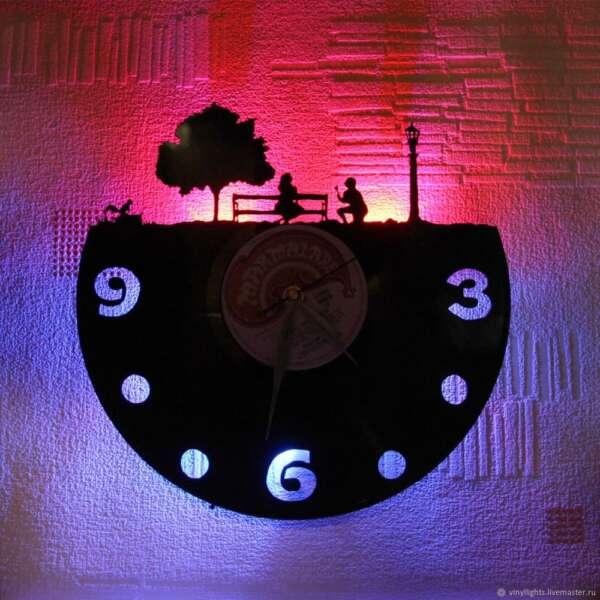 Световые часы вид