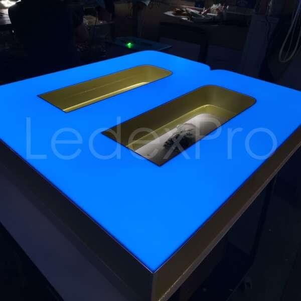 Световые объемные буквы с лицевой подсветкой