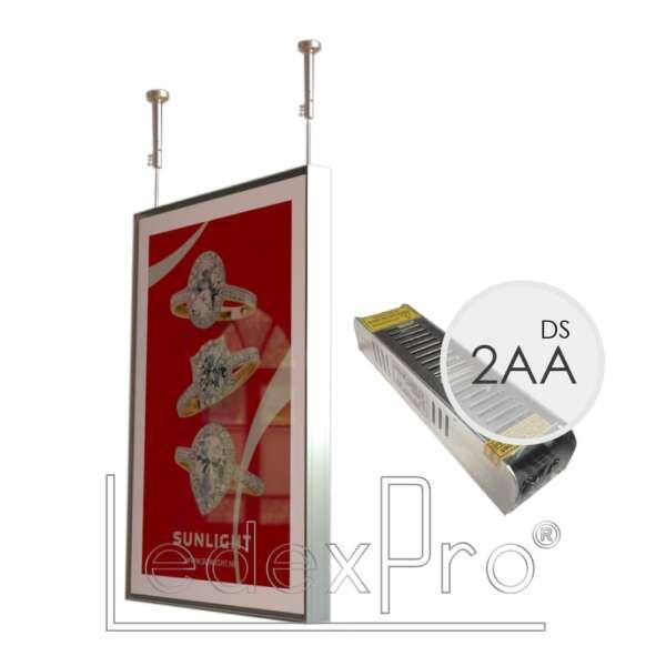 Магнетик 2АА двусторонний подвесной с блоком